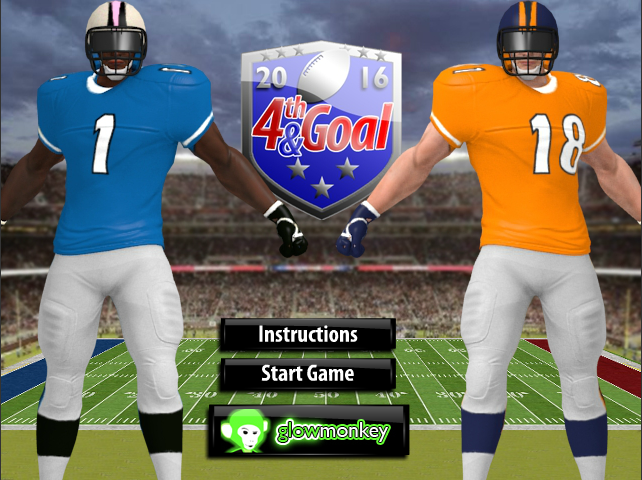 Star fall 4th and goal 2016 Online games for kids, Goals