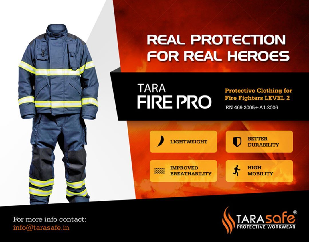 Tara FirePro Turnout gear for Fire Fighters providing
