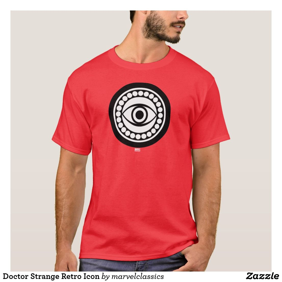 f5062cbec075 Doctor Strange Retro Icon T-Shirt. Bright and Cool classic Marvel Dr. Strange  superhero designs to personalize as a gift for yourself, friends and  families.