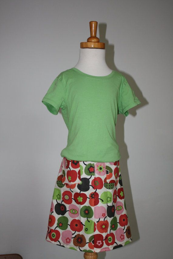 Fall apple skirt by bumbaloe on Etsy, $21,95