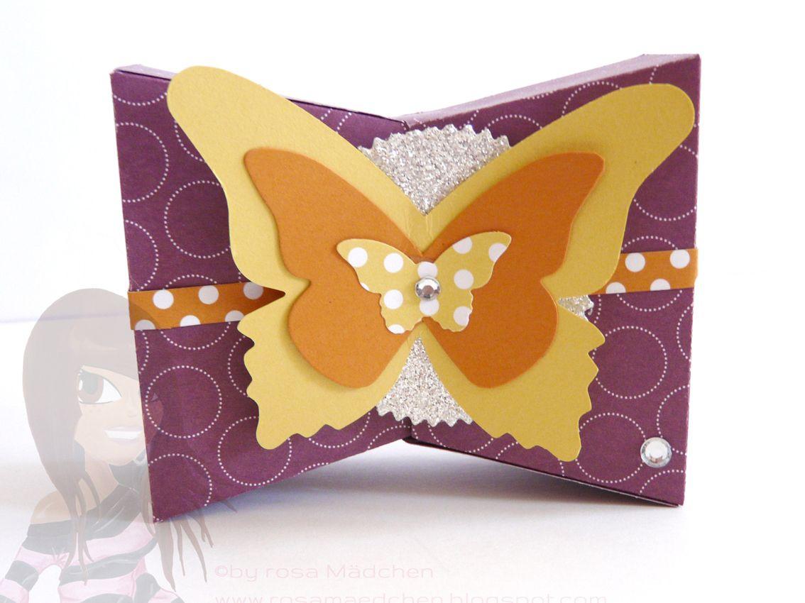Stampin' Up! - Geschenkbox - Zauberhafte Schmetterlinge - Mini-Tasche - Feuerwerk - www.rosamaedchen.blogspot.de