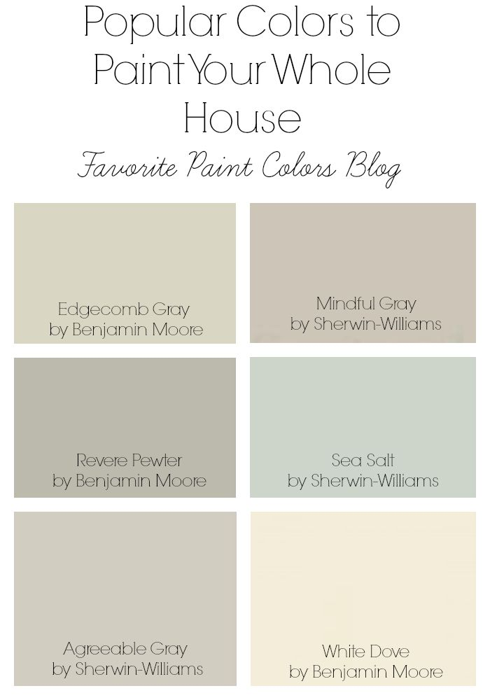 Popular Colors To Paint Your Whole House Favorite Paint Colors Popular Paint Colors Favorite Paint Colors Paint Colors For Home