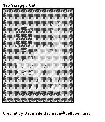 925 scraggly cat halloween filet crochet doily mat pattern 925 scraggly cat halloween filet crochet doily mat pattern dt1010fo