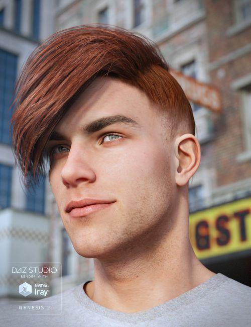 Edit Hair For Genesis 2 Male S 3d Character For Poser And Daz Studio Genesis 2 Poser Mens Hairstyles