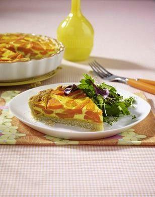 Möhren-Ingwer-Quiche mit Kräutersalat Rezept