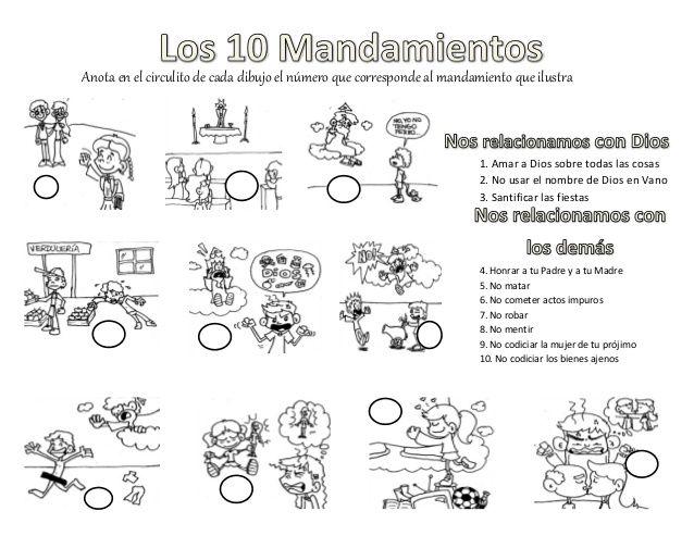Resultado de imagen para imagenes los 10 mandamientos para niños de ...