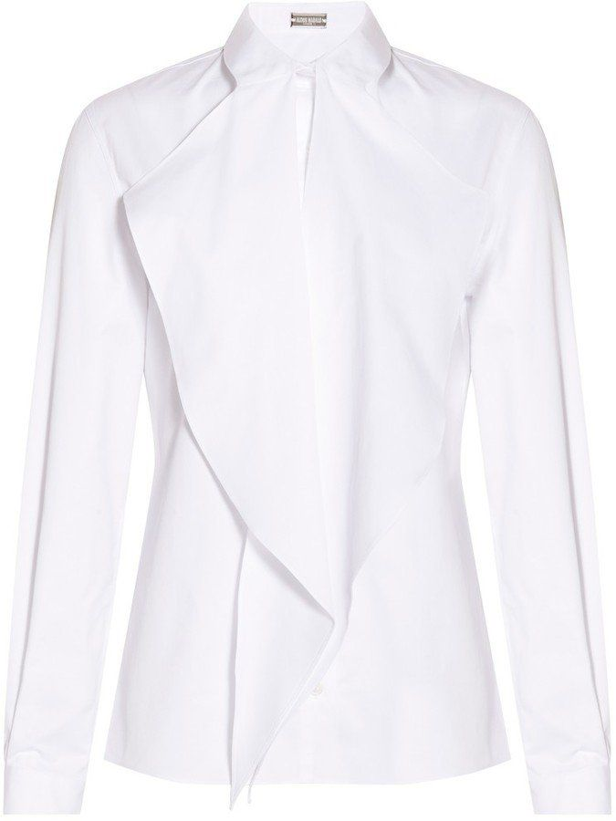 Pin for Later: You'll Never Look at This Wardrobe Staple the Same Way Alexis Mabille Tie Neck Shirt Alexis Mabille Tie Neck Shirt (£322)