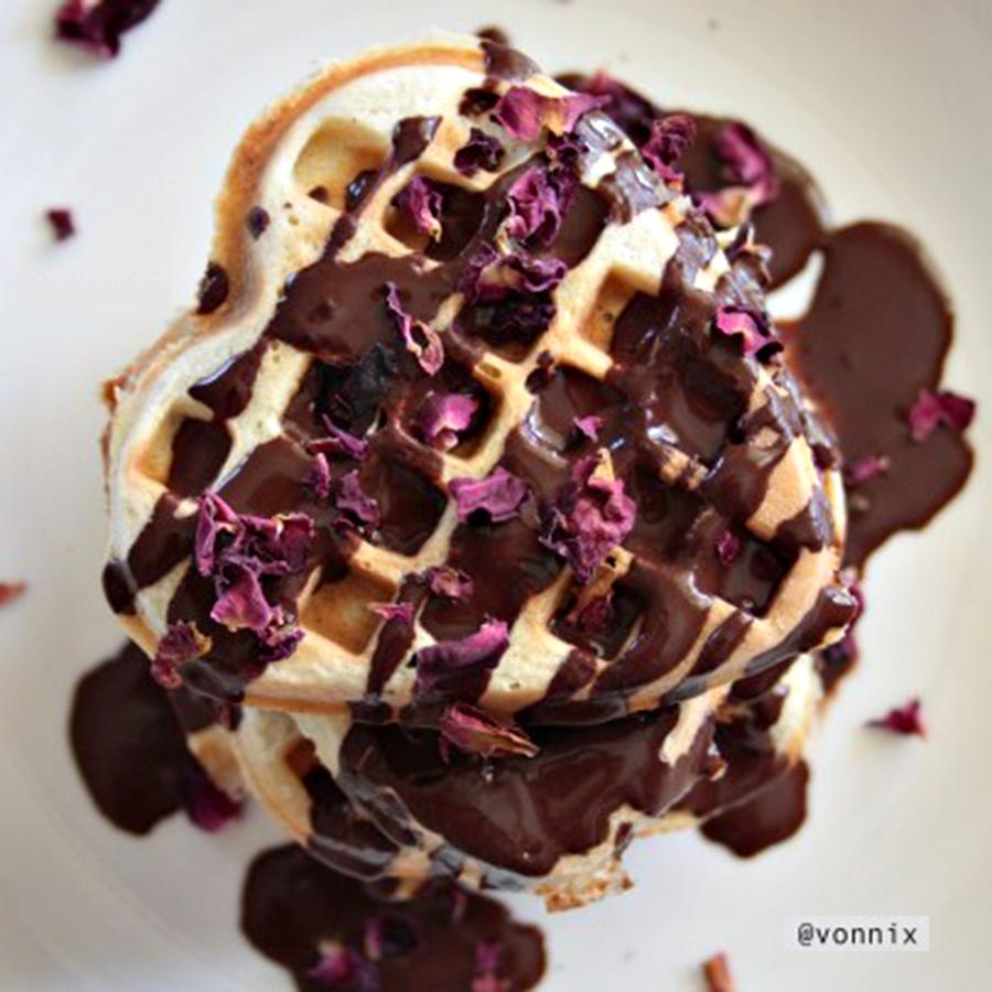 Chocolate Rose Waffles | Natvia - 100% Stevia Natural Sweetener ...