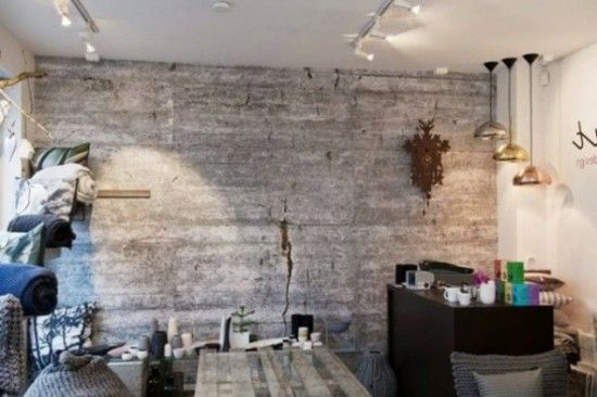 Concrete look eclectic Interior wallpaper & Concrete look eclectic Interior wallpaper   Wallpapers   Pinterest ...