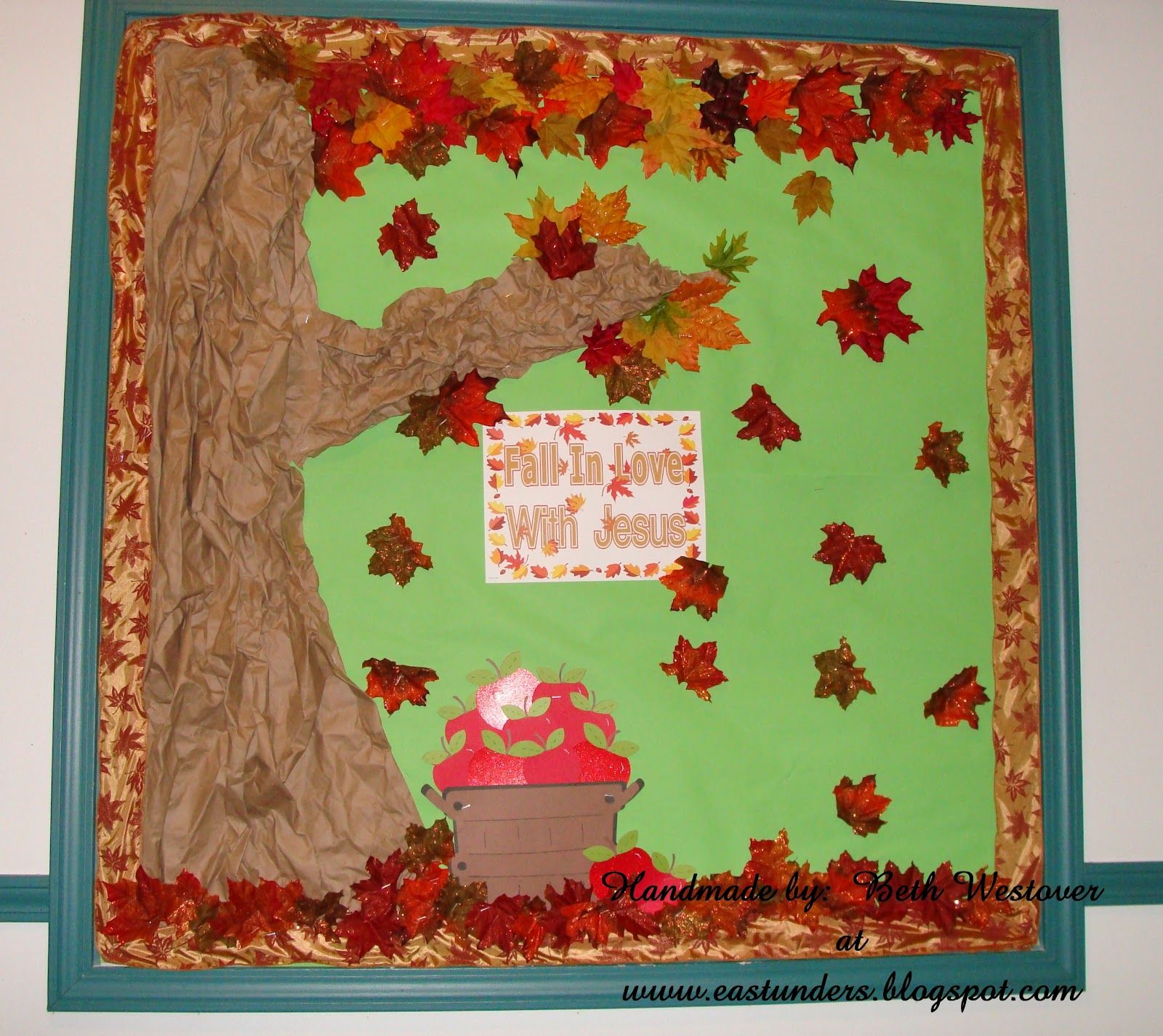 office bulletin board ideas pinterest. Fall Season Bulletin Board Ideas   Paper From Office Max Ribbon For The Boarder Leaves Pinterest