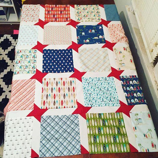 Ready for a border - lovely nautical themed quilt made with Deena ... : nautical themed quilt patterns - Adamdwight.com