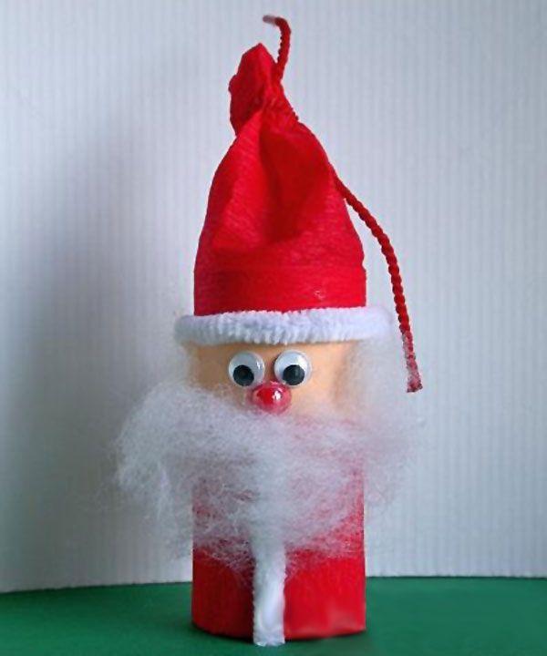 Lavoretti Di Natale Con Babbo Natale.40 Idee Per Lavoretti Di Natale Con Rotoli Di Carta Igienica Natale Artigianato Artigianato Natalizio Carta Di Natale