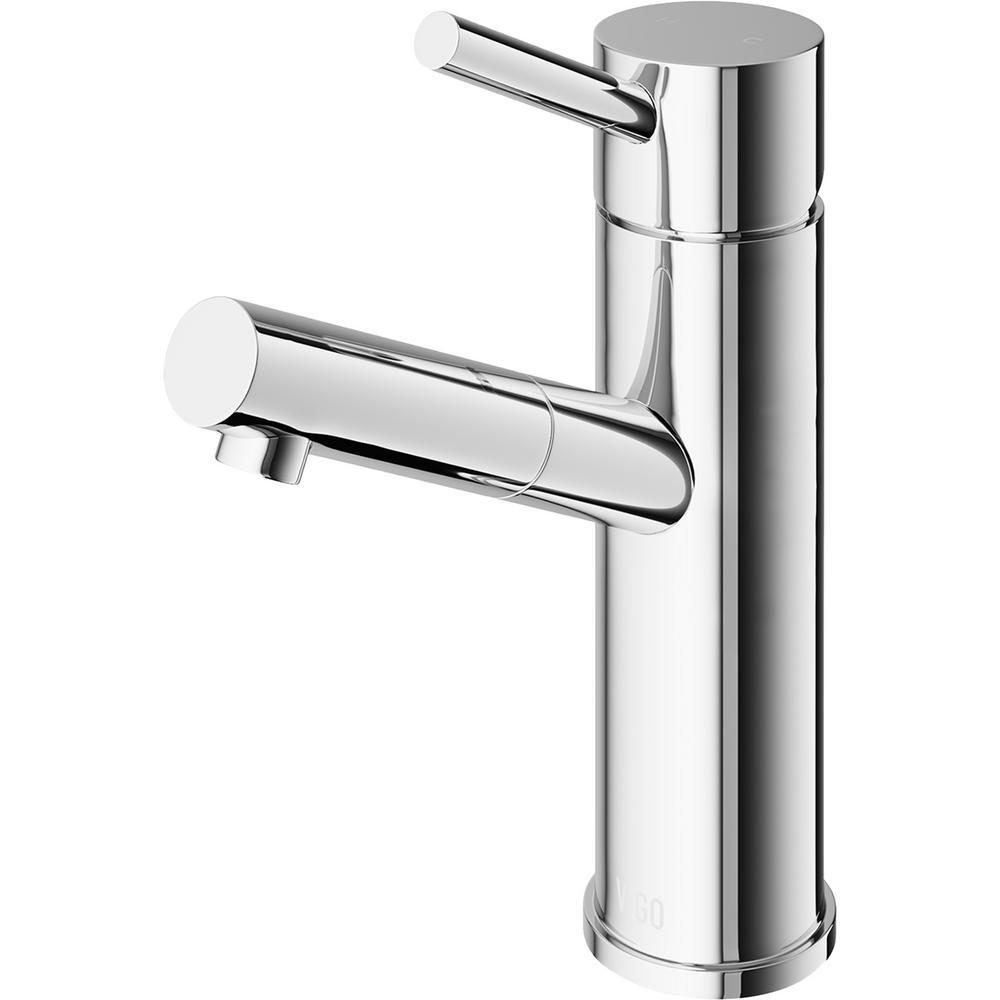 Vigo Noma Single Hole Single Handle Bathroom Faucet In Chrome Vg01009ch The Home Depot Single Handle Bathroom Faucet Bathroom Faucets Faucet [ 1000 x 1000 Pixel ]