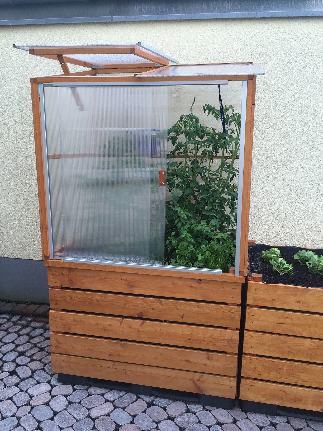 Gemeinsame Gewächshaus auf Hochbeet | Garten | Hochbeet, Gewächshaus bauen #BT_07