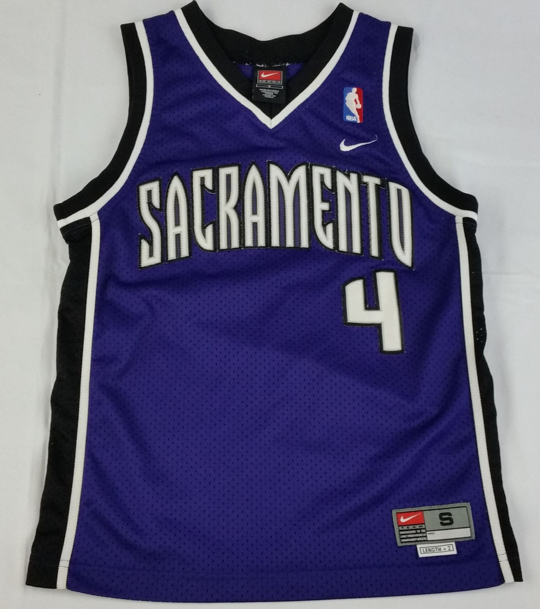 chris webber 4 sacramento kings jersey nike nba swingman purple youth boys s