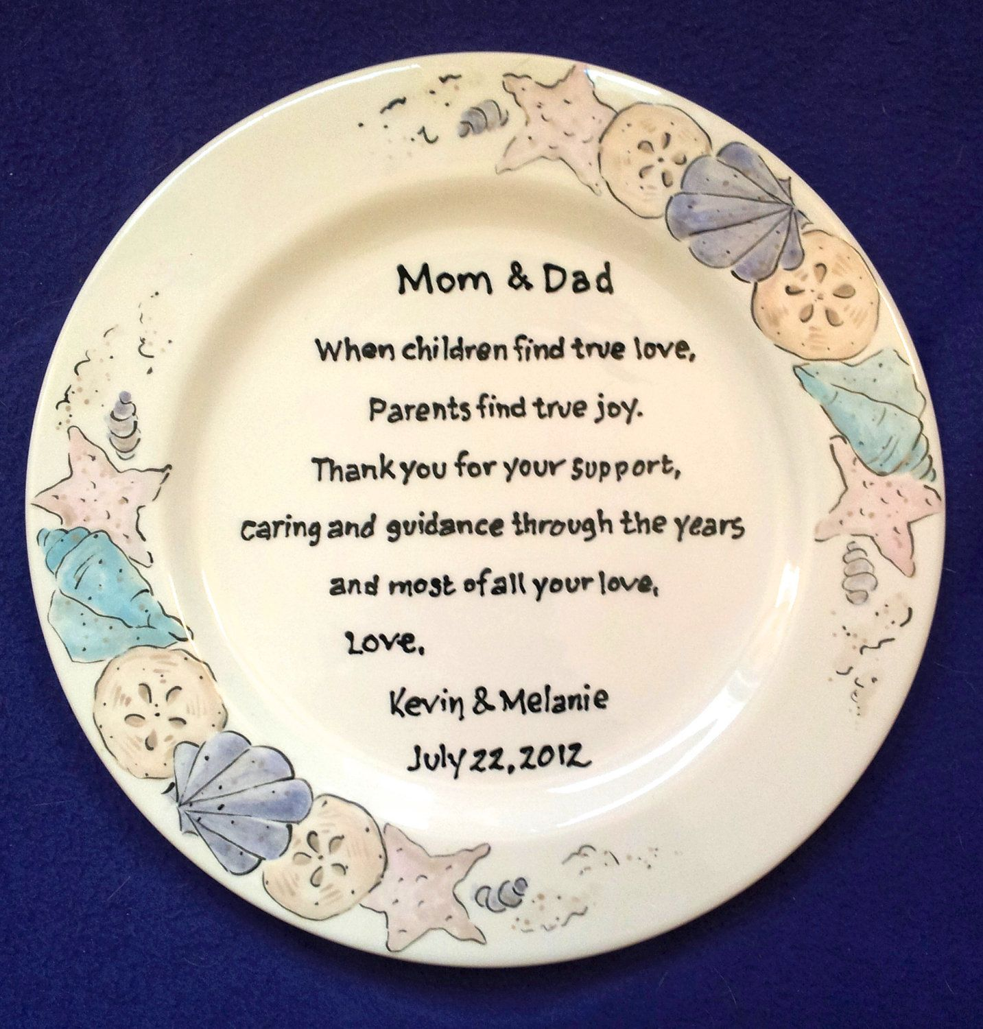 Mother of the bride giftpersonalized giftmom and dadwedding gift