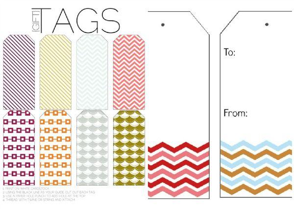 Free printable tags gift tags printable tags chevron printable free printable tags gift tags todays creative life negle Images