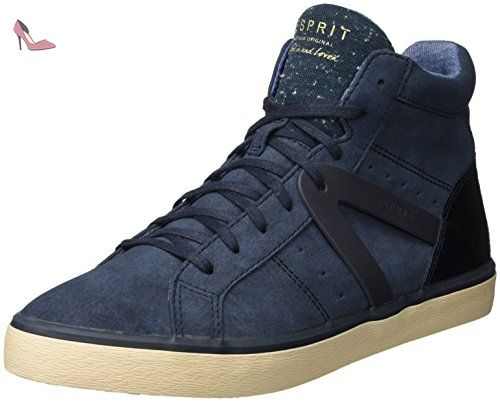 Italia Lace Up, Sneakers Basses Femme - Bleu (Navy 400), 36 EUEsprit