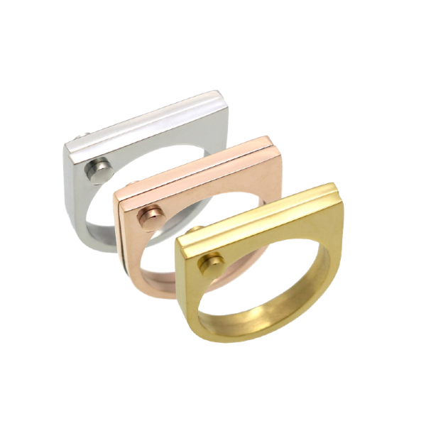 Photo of Square Ring – Stainless Steel