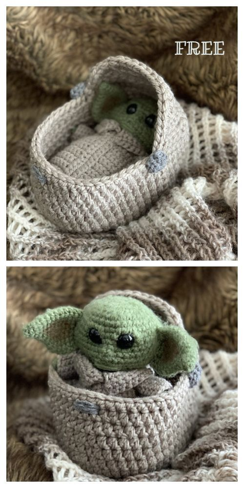 Amigurumi Yoda Free Crochet Patterns – DIY Magazine – Stricken ist so einfach wi…