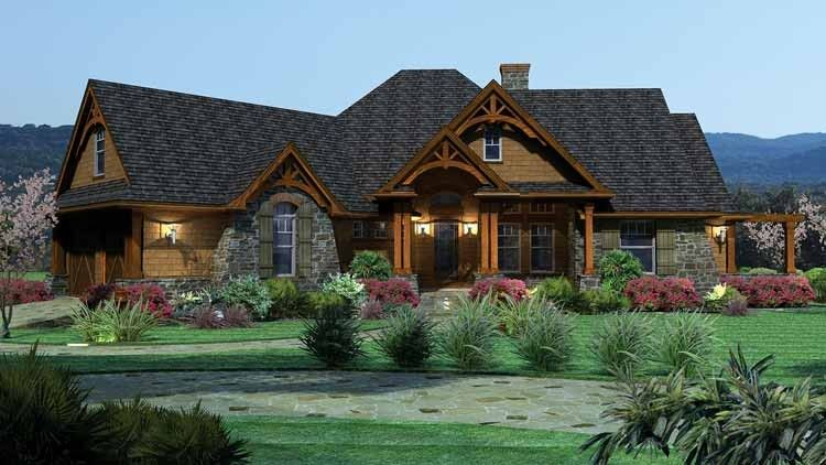 Craftsman Style House Plan 3 Beds 2 5 Baths 2091 Sq Ft Plan 120 162 Tuscan House Plans Cottage Style House Plans Craftsman Style House Plans