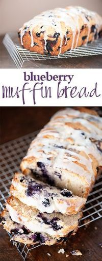 Blueberry Muffin Bread ~ This blueberry bread recipe is so soft and moist and just loaded with fresh blueberries!
