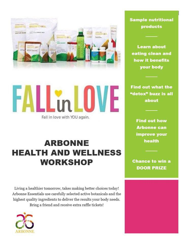 sharing this arbonne health and wellness workshop invite