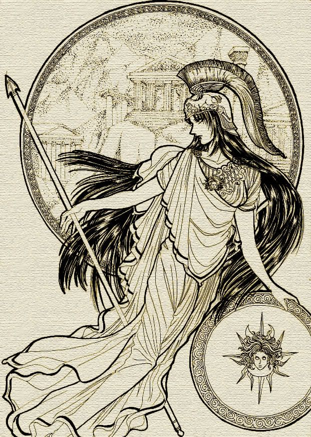 This Image Represents War This Is Athena The Greek Goddess Of War