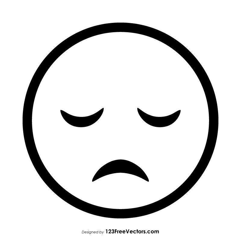 Disappointed Face Emoji Outline Emoji Free Cartoon Images Face Illustration