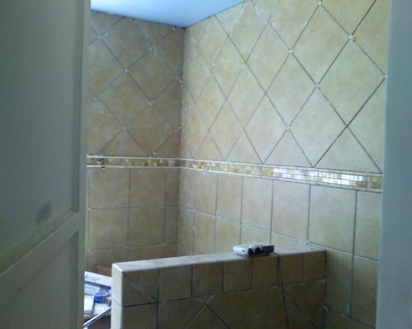 shower design using 12x12 tiles from