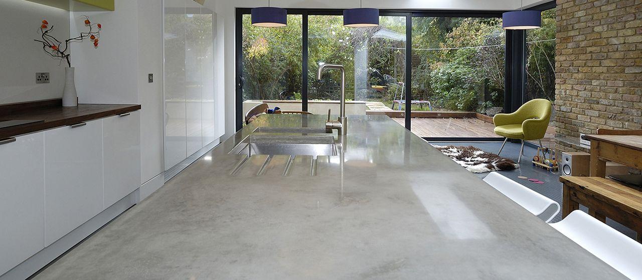 polished concrete worktops sink basins & countertops | kitchen