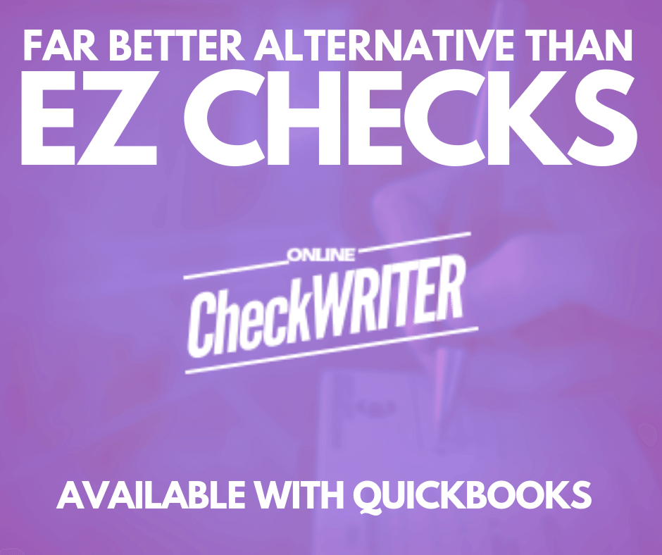 Ez Checks Print Checks Online Unlimted User Instantly Any Printer Quickbooks Online Printing Software Writing Software