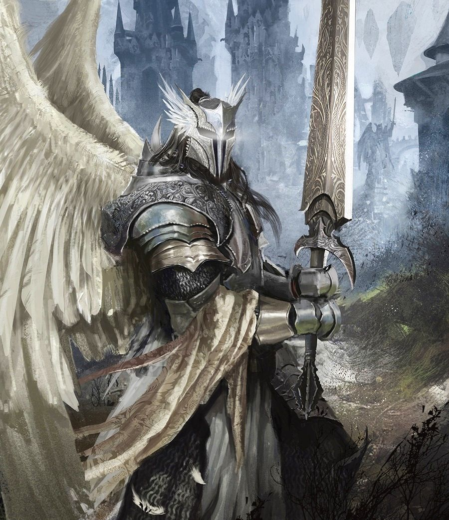 silver knight enid character design angels pinterest fantasy