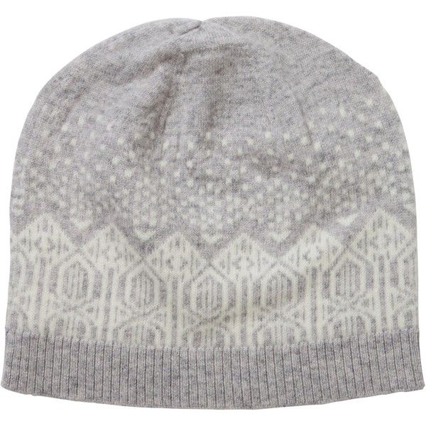 Pure Collection Hannah Cashmere Fair Isle Hat, Heather Dove/Soft ...