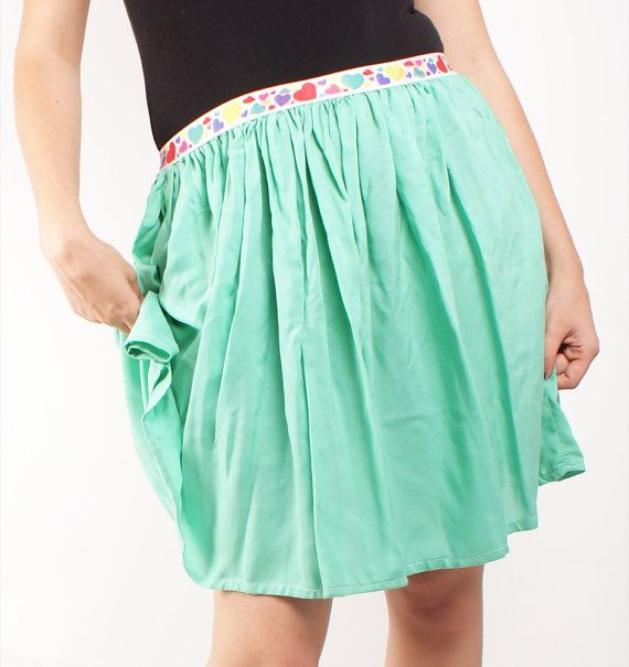 Love the color and fabric :) Just lose the heart waistband and make it more knee-length.