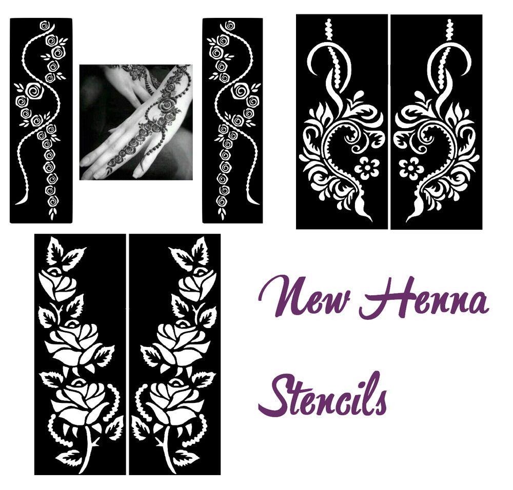 5x mixed lot henna sticker tattoo body art mehndi