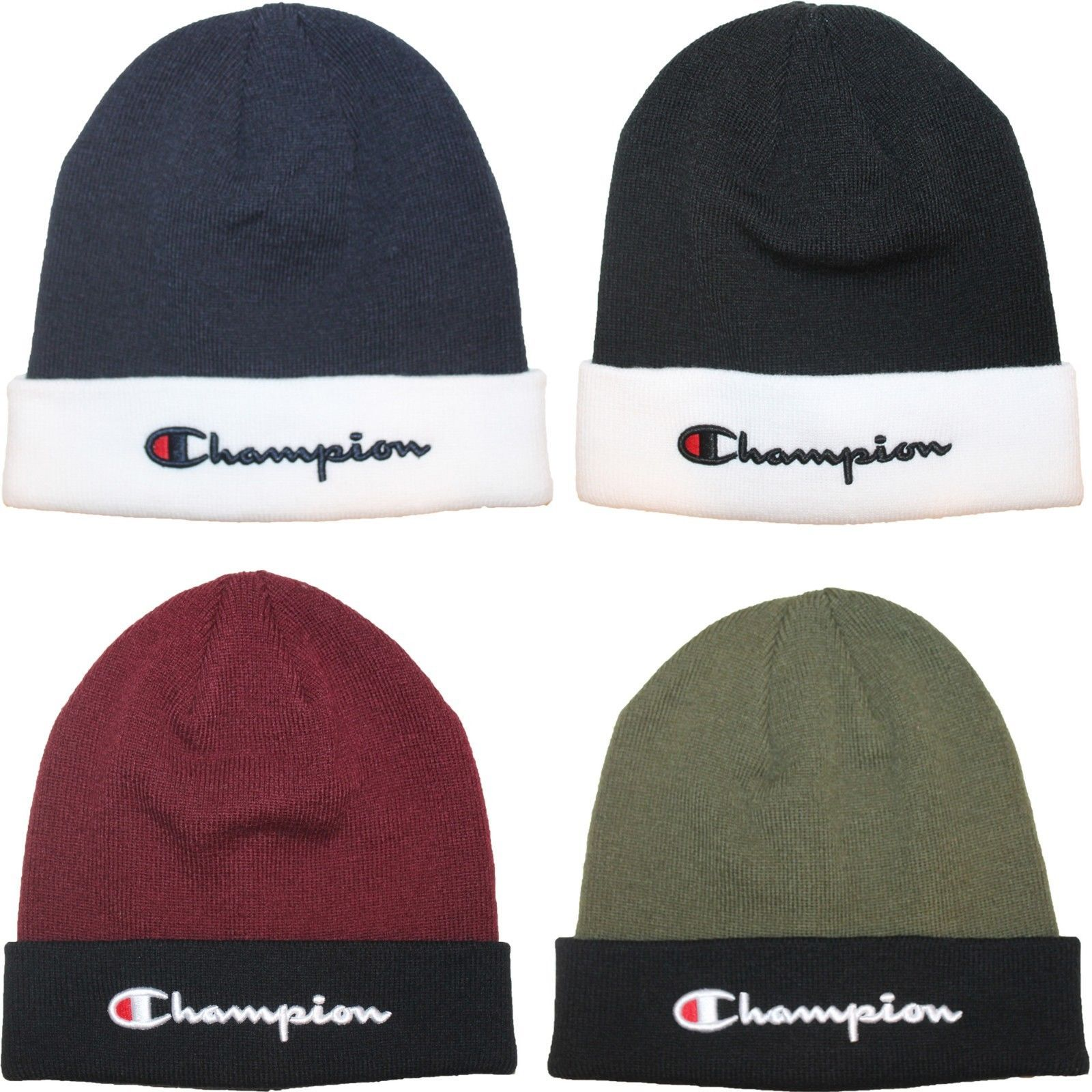 a9757976d8d Hats 163543  Champion Script Logo Two Tone Beanie Skull Skully Cap Hat One  Size Fits Most -  BUY IT NOW ONLY   19.9 on  eBay  champion  script  beanie  ...