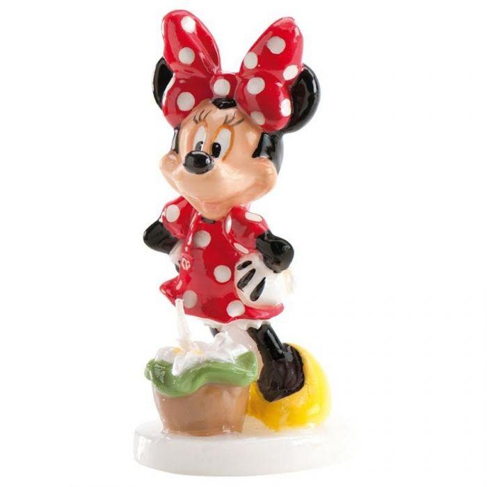 Un clásico que no falla con esta vela de Minnie tendrás el toque perfecto de tu tarta