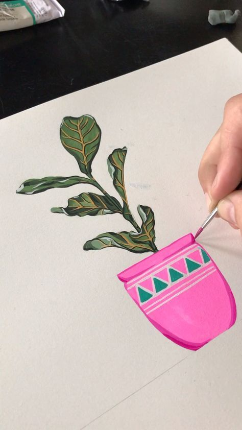 Friendly Potted Plants   Art Print #075   Boelter