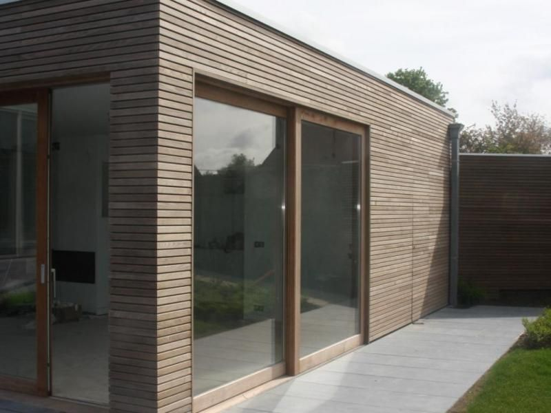 Gevelbekleding thermo hout uitbouw pinterest cladding wooden