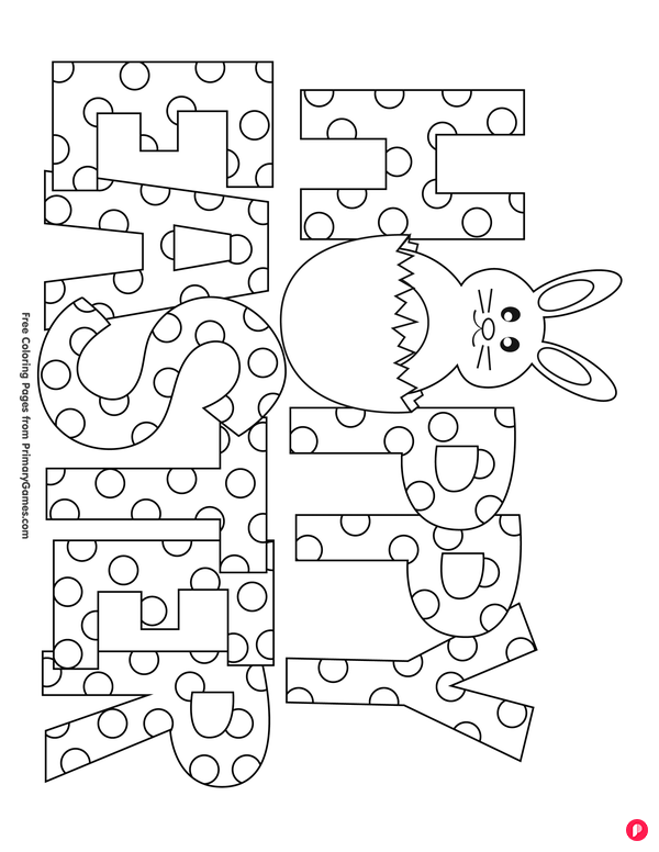 Happy Easter Coloring Page Free Printable Ebook Easter Printables Free Easter Colouring Easter Coloring Pictures