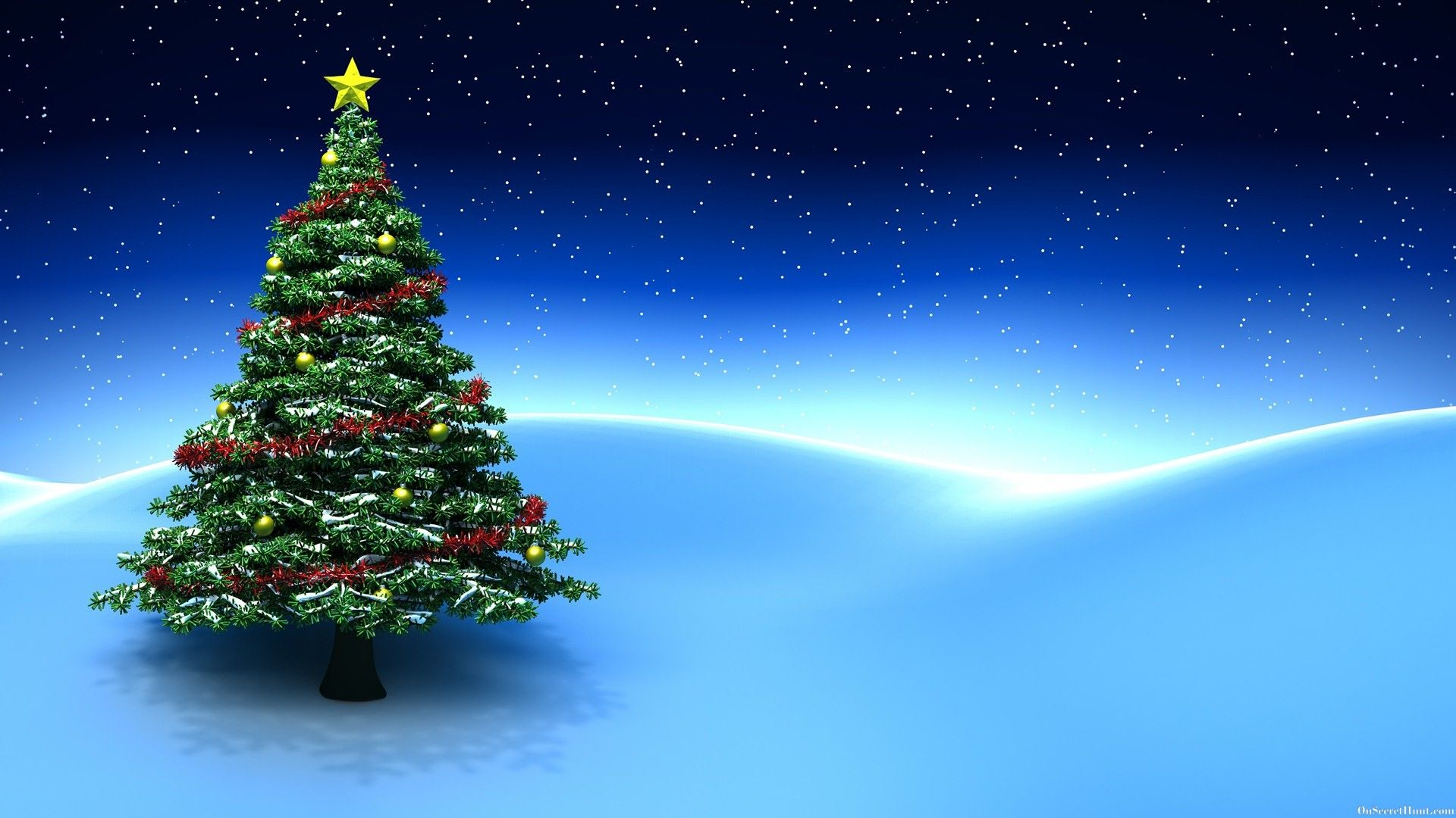 Animated Christmas Tree Wallpaper Christmas Tree Background Animated Christmas Tree Blue Christmas Ornaments