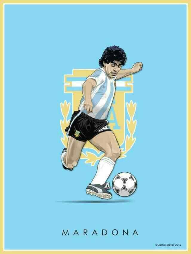 Diego Maradona Of Argentina Wallpaper Football Poster Football Art Football Drawing