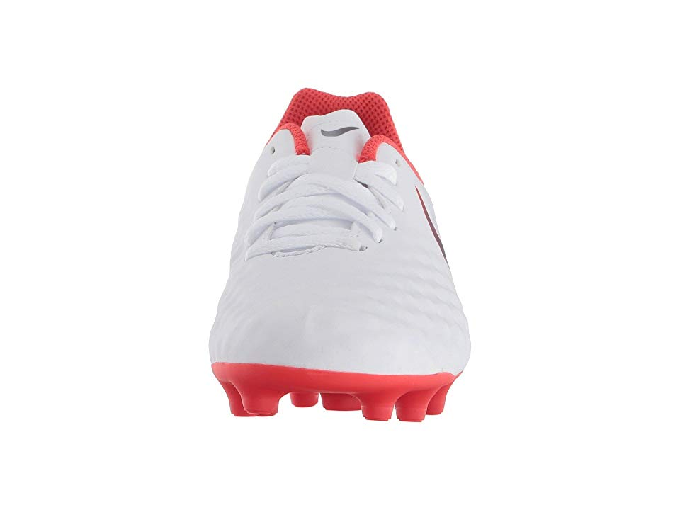badc32fd9f5 Nike Kids Jr. Magista Obra 2 Club FG Soccer (Toddler Little Kid Big Kid)  Kids Shoes White Metallic Cool Grey Light Crimson