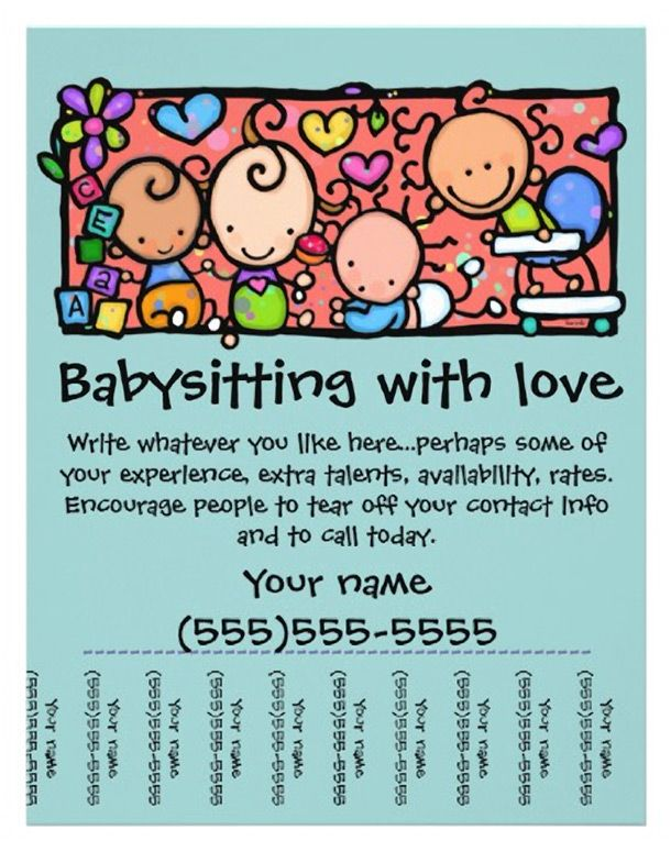 15 cool babysitting flyers 14 babysitting pinterest for Babysitting poster template