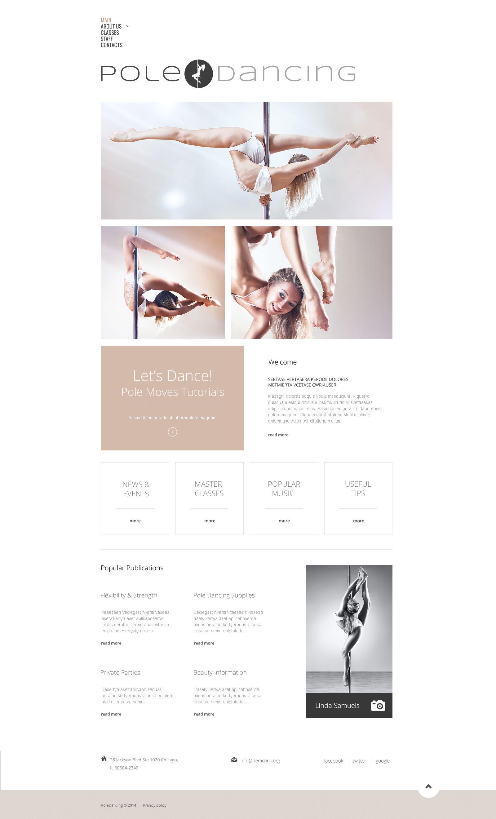 Dance studio responsive website template dance studio website