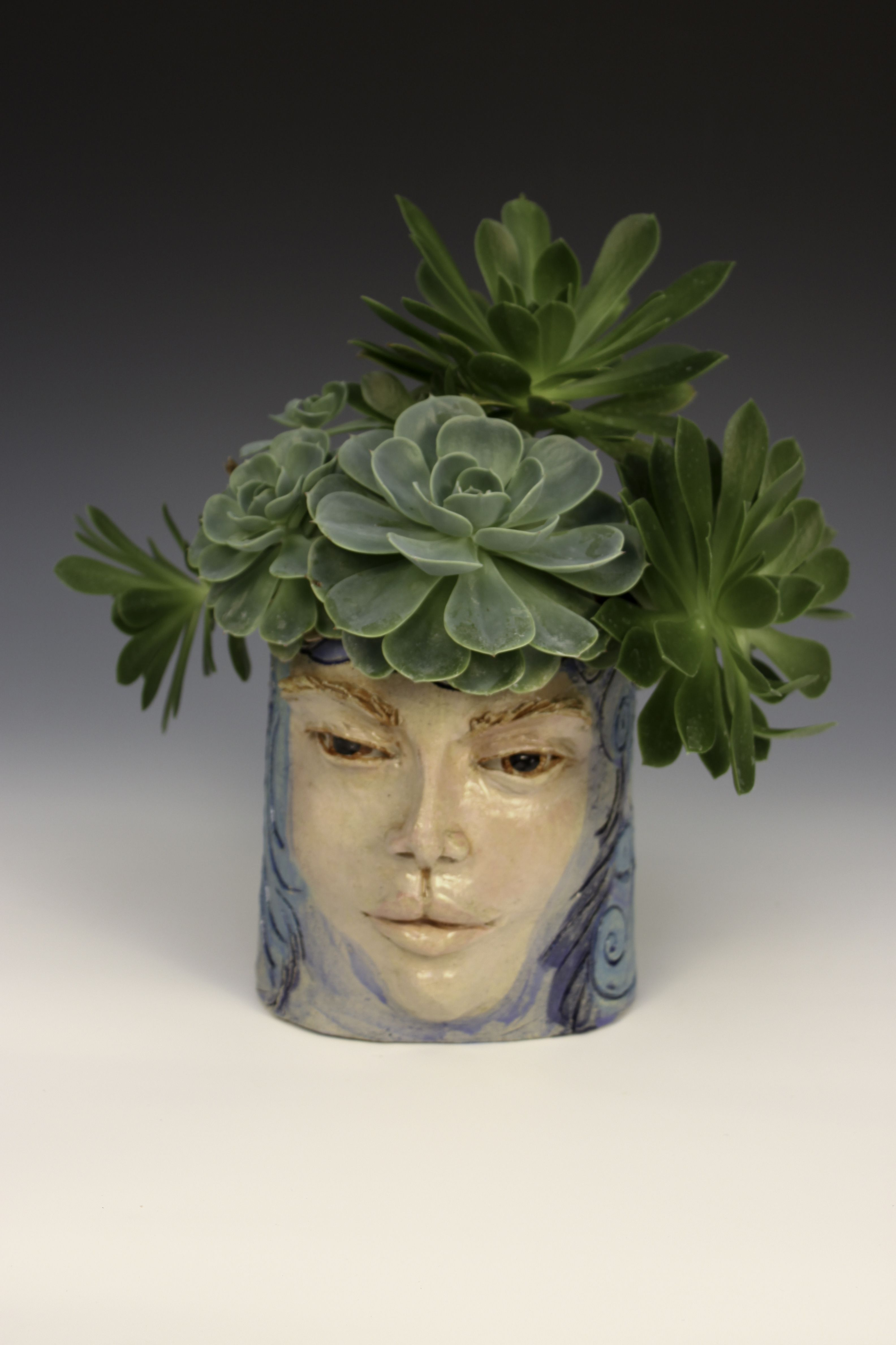 Ceramic Head Planter Pot Head By Lisa Lee My Ceramic Sculptures
