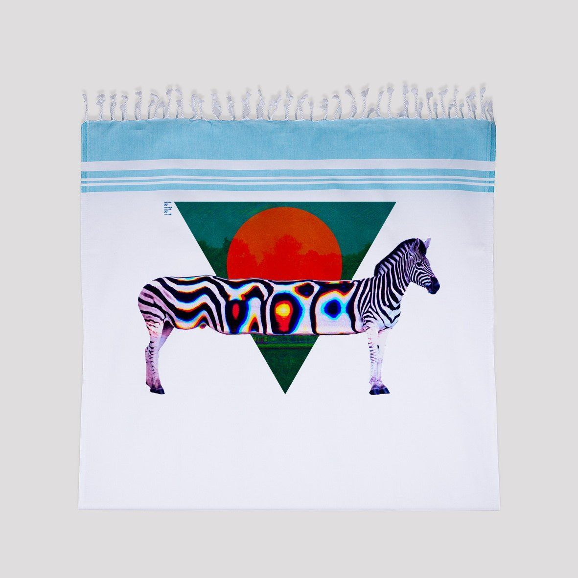 Zebra Illustration Printed Beach Towel Animal Art Print Turkish