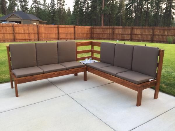 Diy Patio Furniture Sectional Plans