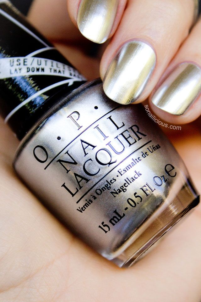 Beautiful Metallic Silver Nail Polish